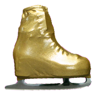 Metallic Figure Skating Boot Covers by Kami-So - Metallic Gold