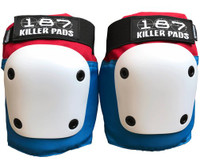 187 Killer Pads Fly Knee Pads - Red / White / Blue