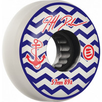 Eulogy Inline Wheels Pro - Jeff Dalnas Anchor Signature Aggressive 57mm 89A White  (4pk)