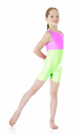 Mondor 7835 Neon Tank Leotard - Hot Lime