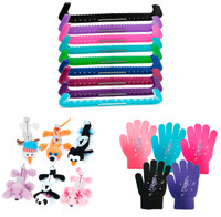 Accessories Package 1 (Guardog Guards, Jerry's Blade Buddies Soakers, ChloeNoel Gloves with Crystals)