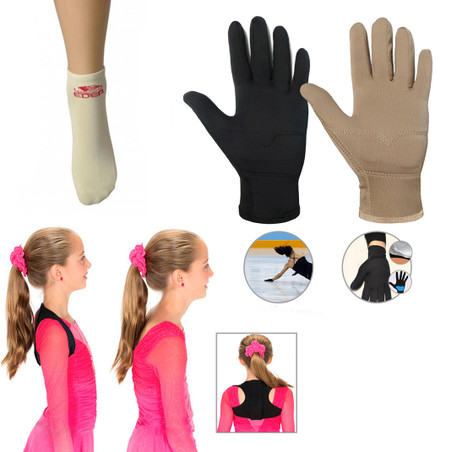 Accessories Package 4 - Competition Gloves, Edea Socks, Perfect Posture Trainer