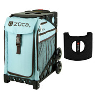 Zuca Sport Bag - Calypso with Gift  Black/Pink Seat Cover (Black Non-Flashing Wheels Frame)