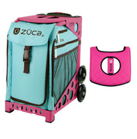 Zuca Sport Bag - Calypso  with Gift  Black/Pink Seat Cover (Pink Frame)