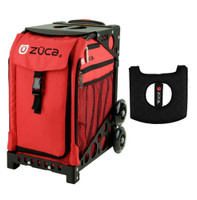 Zuca Sport Bag - Chili  with Gift  Black/Pink Seat Cover (Black Non-Flashing Wheels Frame)
