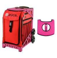 Zuca Sport Bag - Chili  with Gift  Black/Pink Seat Cover (Pink Frame)
