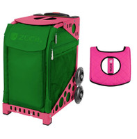 Zuca Sport Bag - Emerald with Gift  Black/Pink Seat Cover (Pink Frame)
