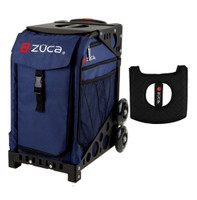 Zuca Sport Bag - Midnight with Gift  Black/Pink Seat Cover (Black  Frame)