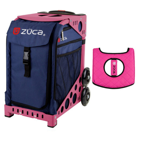 defa148fcfec Zuca Sport Bag - Flamingo with Gift Hot Pink/Black Seat Cover and Midnight  Lunchbox( Pink Frame)