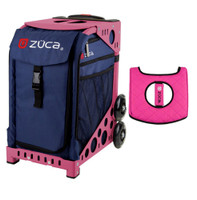 Zuca Sport Bag - Midnight with Gift  Black/Pink Seat Cover (Pink Frame)