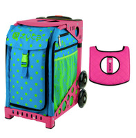 Zuca Sport Bag - Orbz with Gift  Black/Pink Seat Cover (Pink Frame)
