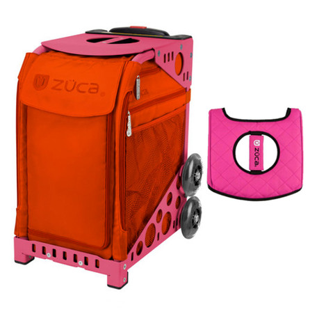 Zuca Sport Bag - Persimmon with Gift  Black/Pink Seat Cover (Pink Frame)