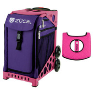 Zuca Sport Bag - Rebel with Gift  Black/Pink Seat Cover (Pink Frame)