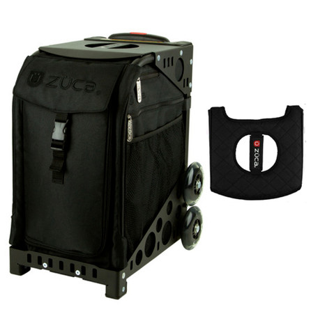 Zuca Sport Bag - Stealth with Gift  Black/Pink Seat Cover (Black  Frame)