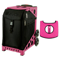 Zuca Sport Bag - Stealth with Gift  Black/Pink Seat Cover (Pink Frame)