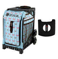 Zuca Sport Bag - Bowz with Gift  Black/Pink Seat Cover (Black Non-Flashing Wheels Frame)