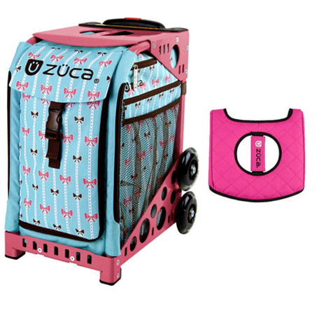 Zuca Sport Bag - Bowz with Gift  Black/Pink Seat Cover (Pink Frame)