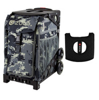 Zuca Sport Bag - Anaconda  with Gift  Black/Pink Seat Cover (Black Non-Flashing Wheels Frame)