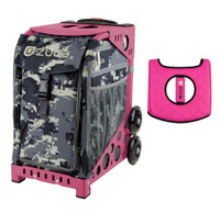 Zuca Sport Bag - Anaconda with Gift  Black/Pink Seat Cover (Pink Frame)