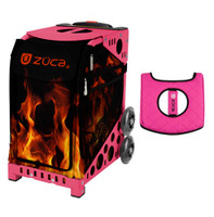 Zuca Sport Bag - Blaze with Gift  Black/Pink Seat Cover (Pink Frame)