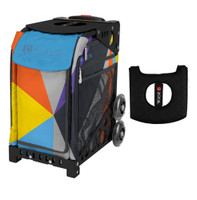 Zuca Sport Bag - Colorblock Party  with Gift  Black/Pink Seat Cover (Black Non-Flashing Wheels Frame)