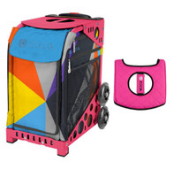 Zuca Sport Bag - Colorblock Party with Gift  Black/Pink Seat Cover (Pink Frame)