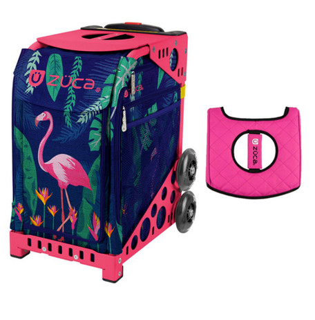Zuca Sport Bag - Flamingo with Gift  Black/Pink Seat Cover (Pink Frame)