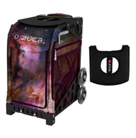 Zuca Sport Bag - Galaxy with Gift  Black/Pink Seat Cover (Black Non-Flashing Wheels Frame)