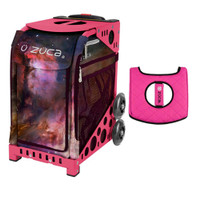 Zuca Sport Bag - Galaxy  with Gift  Black/Pink Seat Cover (Pink Frame)