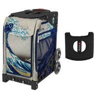 Zuca Sport Bag - Great Wave with Gift  Black/Pink Seat Cover (Black  Frame)