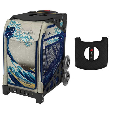 Zuca Sport Bag - Great Wave with Gift  Black/Pink Seat Cover (Black Non-Flashing Wheels Frame)