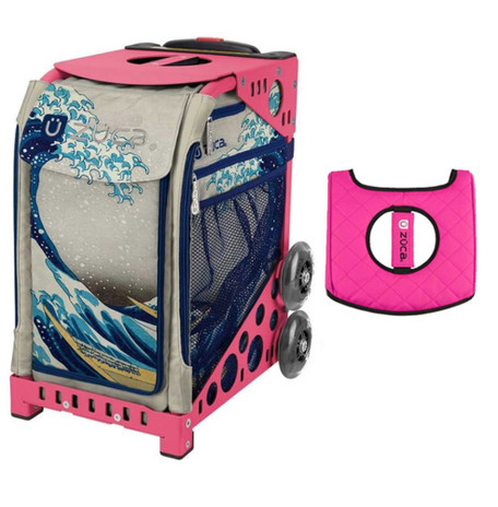 Zuca Sport Bag - Great Wave with Gift Black/Pink Seat Cover