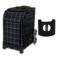 Zuca Sport Bag - Imperial Plaid with Gift  Black/Pink Seat Cover (Black  Frame)