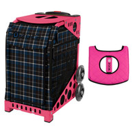 Zuca Sport Bag - Imperial Plaid with Gift  Black/Pink Seat Cover (Pink Frame)