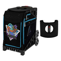Zuca Sport Bag - Kickflip with Gift  Black/Pink Seat Cover (Black Non-Flashing Wheels Frame)