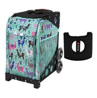 Zuca Sport Bag - Llama Rama with Gift  Black/Pink Seat Cover (Black  Frame)
