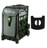 Zuca Sport Bag - Paintball with Gift  Black/Pink Seat Cover (Black Non-Flashing Wheels Frame)