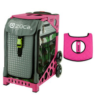 Zuca Sport Bag - Paintball with Gift  Black/Pink Seat Cover (Pink Frame)
