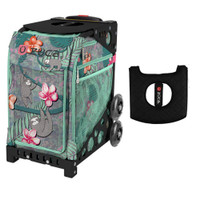 Zuca Sport Bag - Peek-a-Boo Friends with Gift  Black/Pink Seat Cover (Black Non-Flashing Wheels Frame)