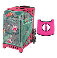 Zuca Sport Bag - Peek-a-Boo Friends with Gift  Black/Pink Seat Cover (Pink Frame)