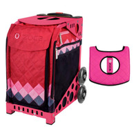 Zuca Sport Bag - Pink Diamonds with Gift  Black/Pink Seat Cover (Pink Frame)