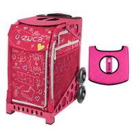 Zuca Sport Bag - Pink SK8 with Gift  Black/Pink Seat Cover (Pink Frame)