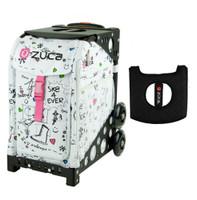 Zuca Sport Bag - Sk8 with Gift  Black/Pink Seat Cover (Black  Frame)