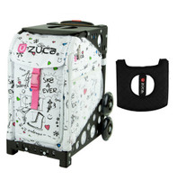 Zuca Sport Bag - Sk8 with Gift  Black/Pink Seat Cover (Black Non-Flashing Wheels Frame)