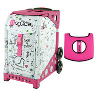 Zuca Sport Bag - Sk8 with Gift  Black/Pink Seat Cover (Pink Frame)