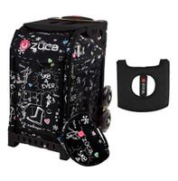 Zuca Sport Bag - Sk8 Black (Limited Edition) with Gift  Black/Pink Seat Cover (Black  Frame)