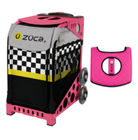 Zuca Sport Bag - SK8ter Block with Gift  Black/Pink Seat Cover (Pink Frame)