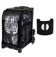 Zuca Sport Bag - Tiger with Gift  Black/Pink Seat Cover (Black Non-Flashing Wheels Frame)