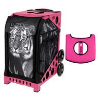 Zuca Sport Bag - Tiger with Gift  Black/Pink Seat Cover (Pink Frame)