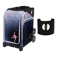Zuca Sport Bag - Ice Dreamz Lux  with Gift  Black/Pink Seat Cover (Black Non-Flashing Wheels Frame)
